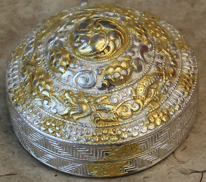 Sangay arts and craftssilver lime container